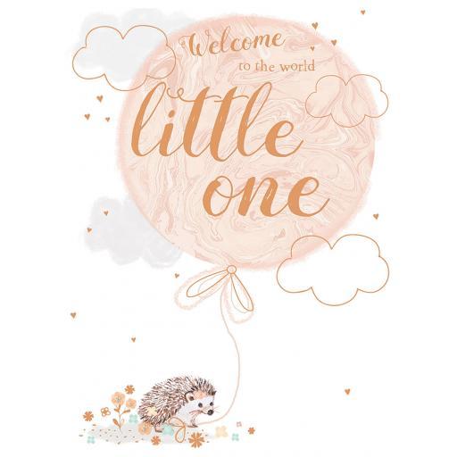 New Baby Card - Hedgehog & Balloon