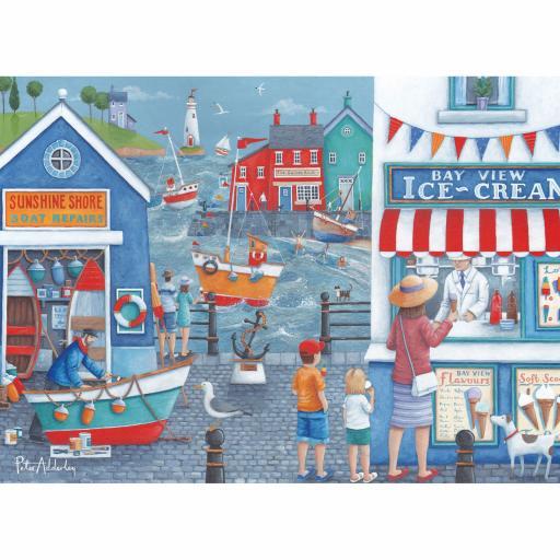 Peter Adderley Card - Seaside Ice Creams
