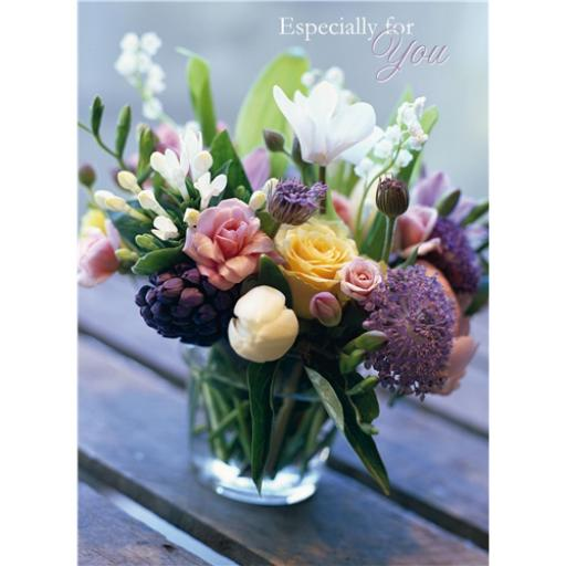 Floral Birthday Card - Vintage Posy