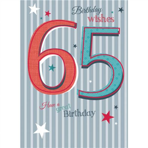 Special Birthdays Card - 65 Male