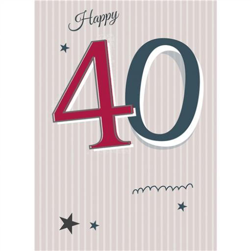 Special Birthdays Card - 40 Male