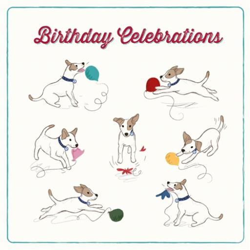 Tommy Doggy Card - Birthday Balloons