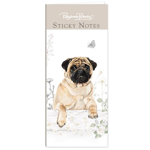 Pollyanna Pickering Stationery - Mini Sticky Notes Selection (Pug)