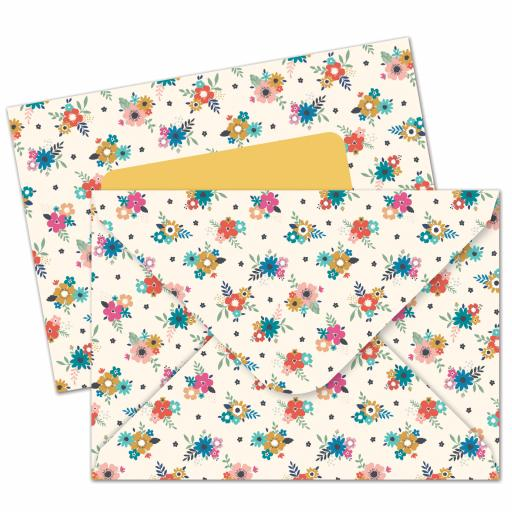Bohemia Stationery - A6 Notecard Pack - Little Flowers