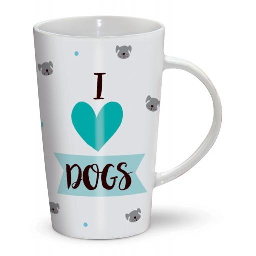 Latte Mug - I Love Dogs