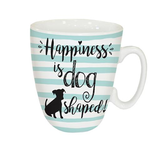Curved Mug - Happiness Is Dog