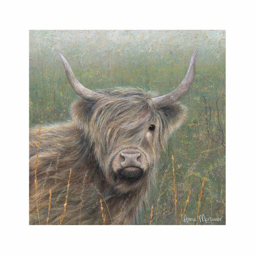 Enchanted Wildlife Card - Highland Cow