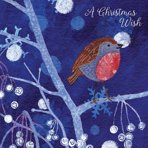 Help For Heroes Christmas Card Pack (Small) - Twilight Robin