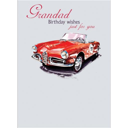 Family Circle Card - Red Alfa Romeo Giuletta (Grandad)