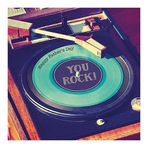 Fathers Day Card - Record Deck