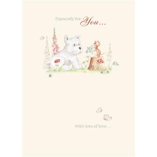 Friends From Bluebell Wood Card - Westie & Friend