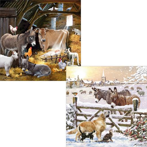 Luxury Christmas Card Pack - Christmas On The Farm