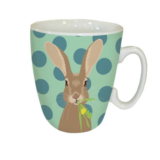 Curved Mug - Waggy Tails - Hare