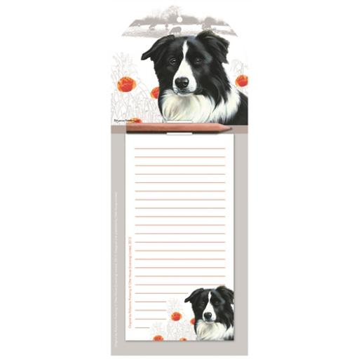 Magnetic Memo Pad - Border Collie