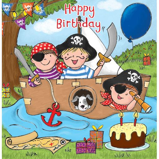 Twizler Card - Milo Pirate (Happy Birthday)