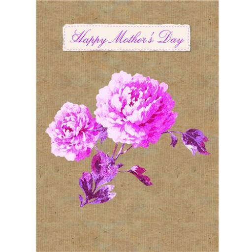 Mother's Day Card - Vintage Rose