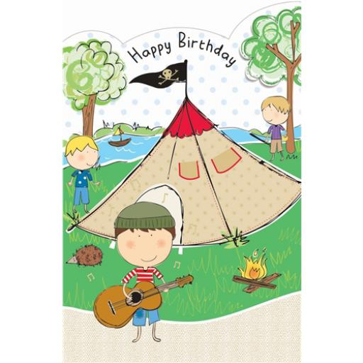 Sugar & Mice Card - Camping