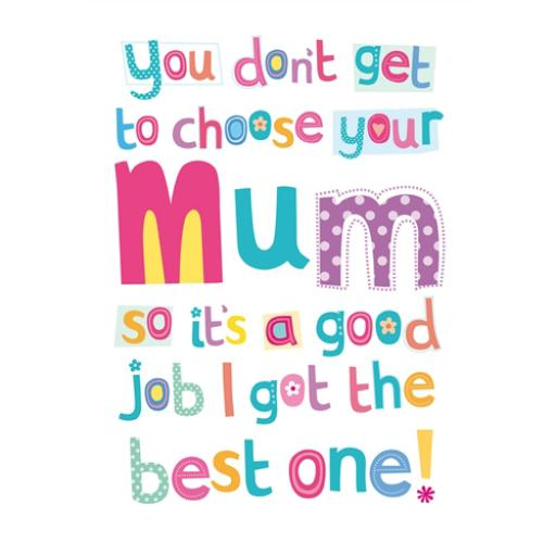 Mother's Day Card - Mum Text