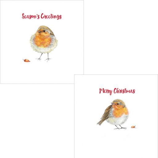 Luxury Christmas Card Pack - Festive Robin