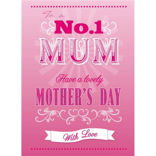 Mother's Day Card - Pink Text