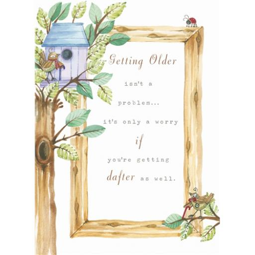 Sentiments Card - Getting Older