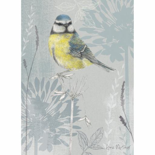 RSPB Card - Petals & Perches - Blue Tit & Blooms