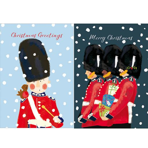 Help For Heroes Christmas Card Pack (Medium) - Snowy Guards