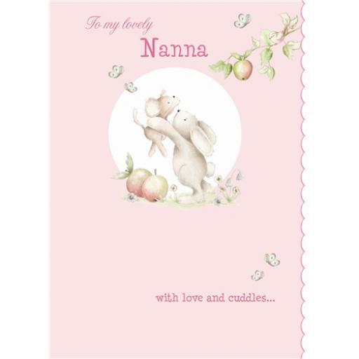 Family Circle Card - Bunny Hugs (Nanna)