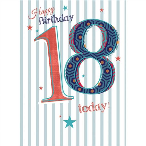 Special Birthdays Card - 18 Male