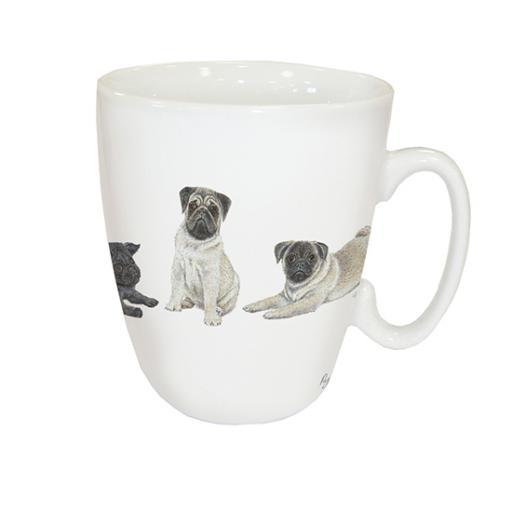 Curved Mug - Pugs