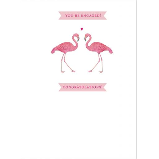 Engagement Card - Flamingos
