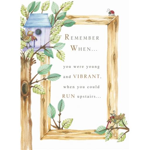 Sentiments Card - Remember When
