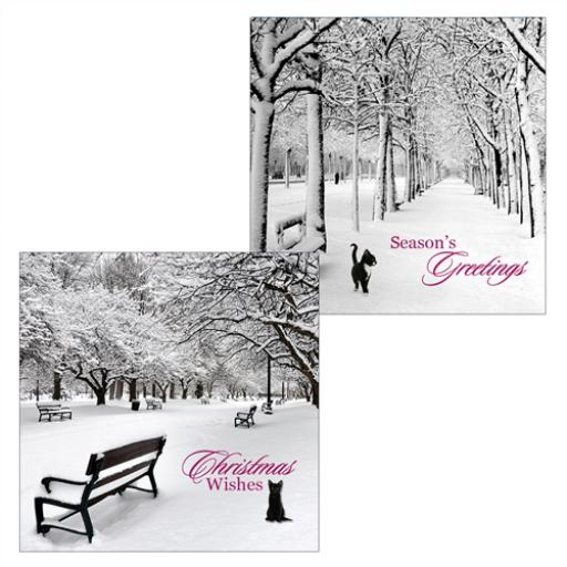 Luxury Christmas Card Pack - Frosty Morning