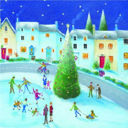Charity Christmas Card Pack - Village At Christmas