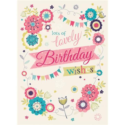 Poppy Davis Card - Flowers & Bunting