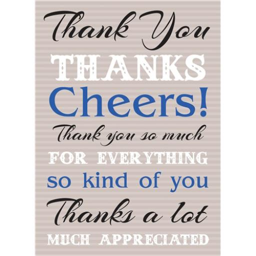 Thank You Card - Thanks Text