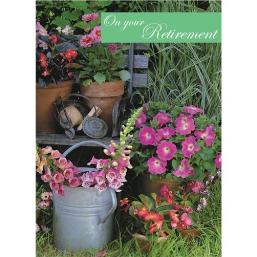 Retirement Card - Watering Can
