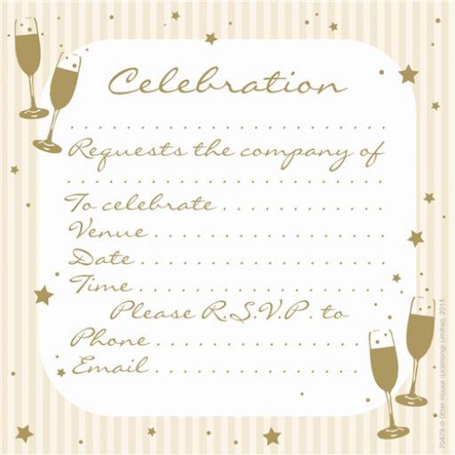 Social Stationery - Celebration Invitations (Celebration)