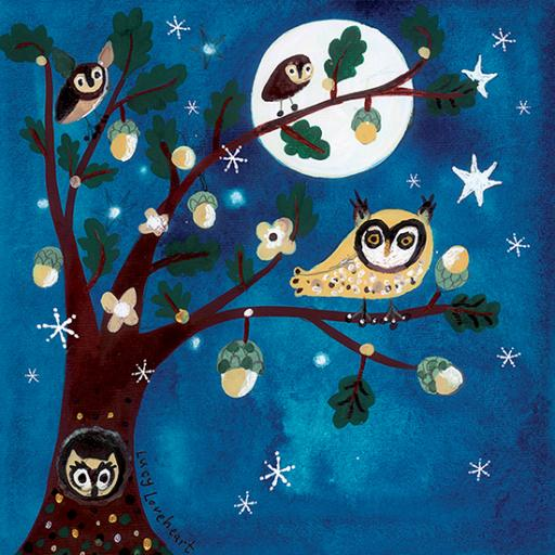 Charity Christmas Card Pack - Midnight Owls