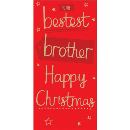 Christmas Card (Single) - Brother 'Gold Text'