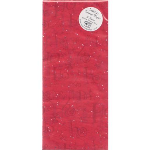 Christmas Tissue Paper Pack - Ho Ho Ho