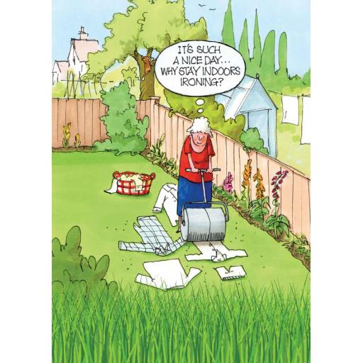 Gardeners Weakly Card - Ironing