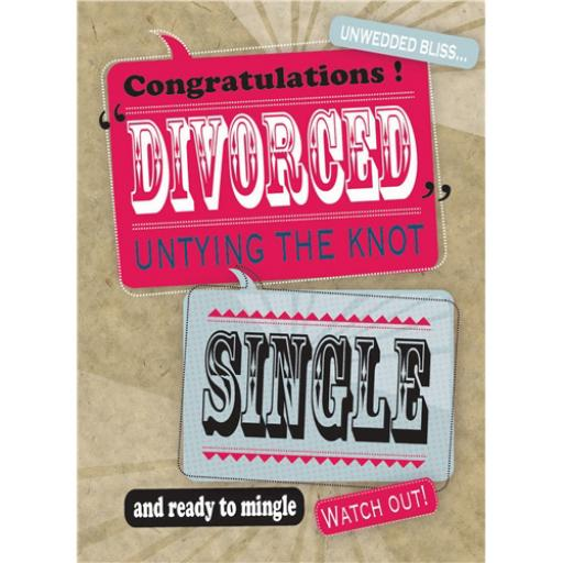 Divorce Card - Untying The Knot