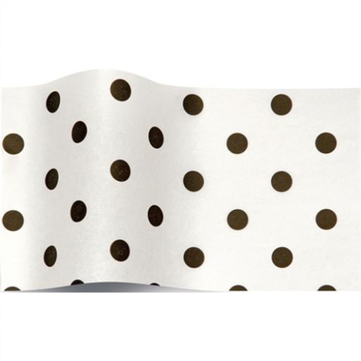 Tissue Pack - Black Dots On White