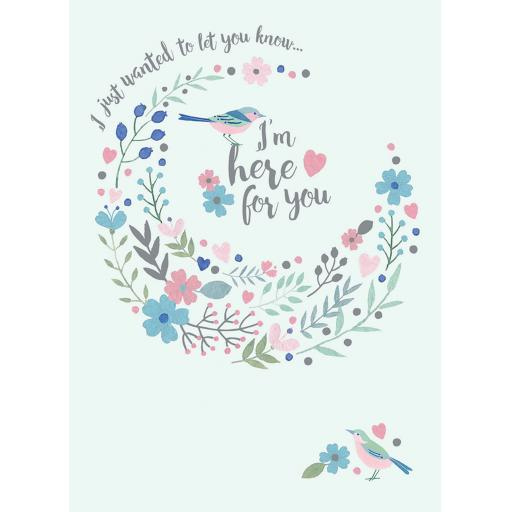 Sympathy Card - I'm Here For You