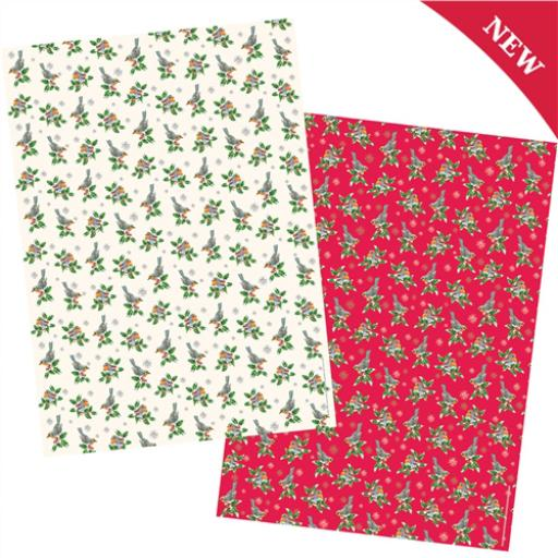 Christmas Wrap & Tags Bumper (Twin) Pack - Festive Robins