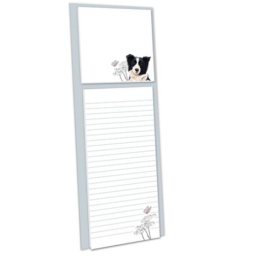 Pollyanna Pickering Stationery - Magnetic Memo Pad With Sticky Notes (Border Collie)