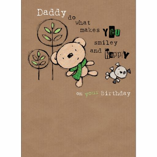 Family Circle Card - Smiley & Happy Bear (Daddy)