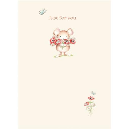 Friends From Bluebell Wood Card - Arms Of Flowers