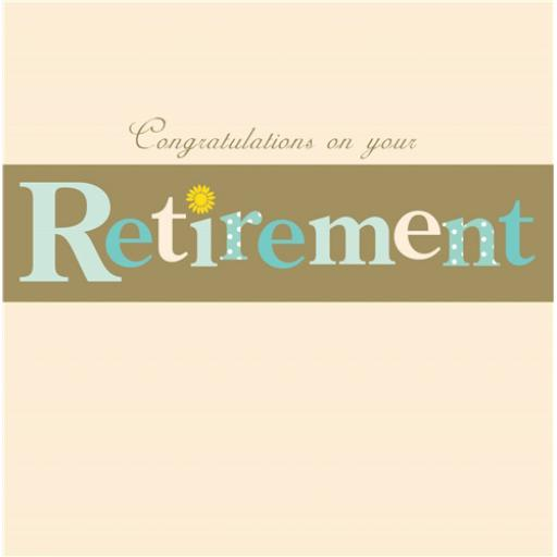 Retirement Card - Retirement
